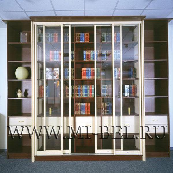 Книжные шкафы и библиотеки фото.
